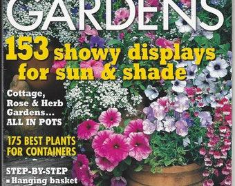 Container Gardening Container Gardens Magazine Country Almanac #57 Summer 2004