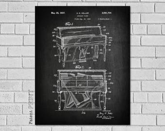 Pianist Gift, Piano Print, Piano Decor, Piano Poster, Piano Gift, Piano Teacher Gift, Piano Wall Art, Piano Player Gift, Music Room, MP704