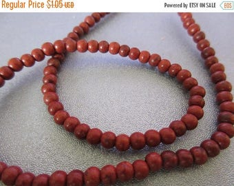 ON SALE 15% OFF Chocoate Magnesite Round 4mm Beads 112pcs
