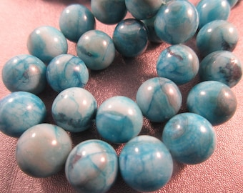 Blue Crazy Lace Agate Round 12mm Beads 34pcs