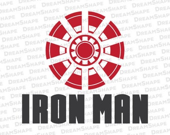 Super Hero SVG Cut Files, Power Source Iron Man DXF File, Ironman SVG Cuttable File, Superhero Iron Man Svg Dxf Cut Files, Instant Download
