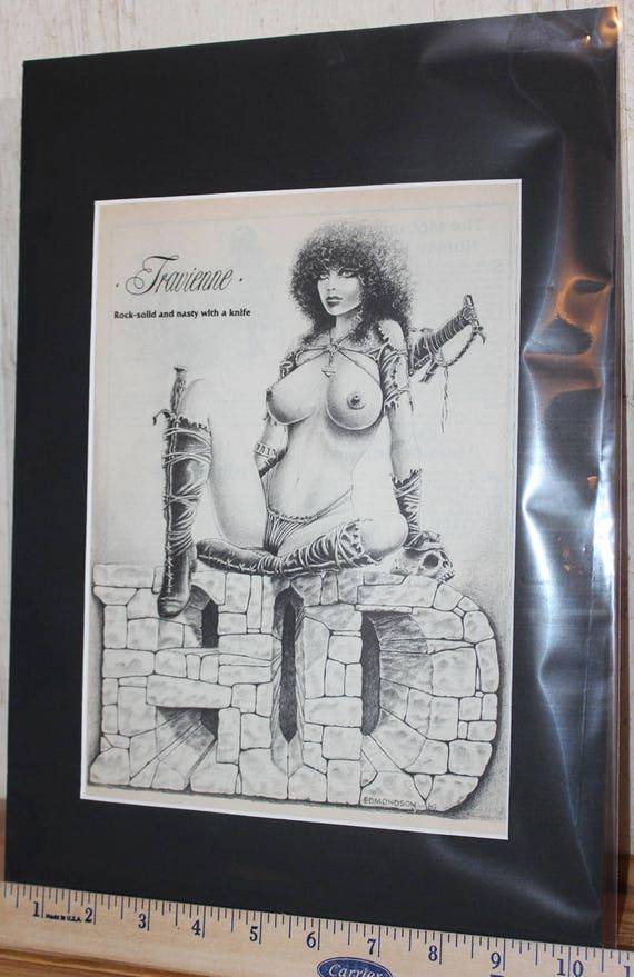 Easyriders ''Travienne'' D. James Edmondson Matted Biker Art #8805ezredm