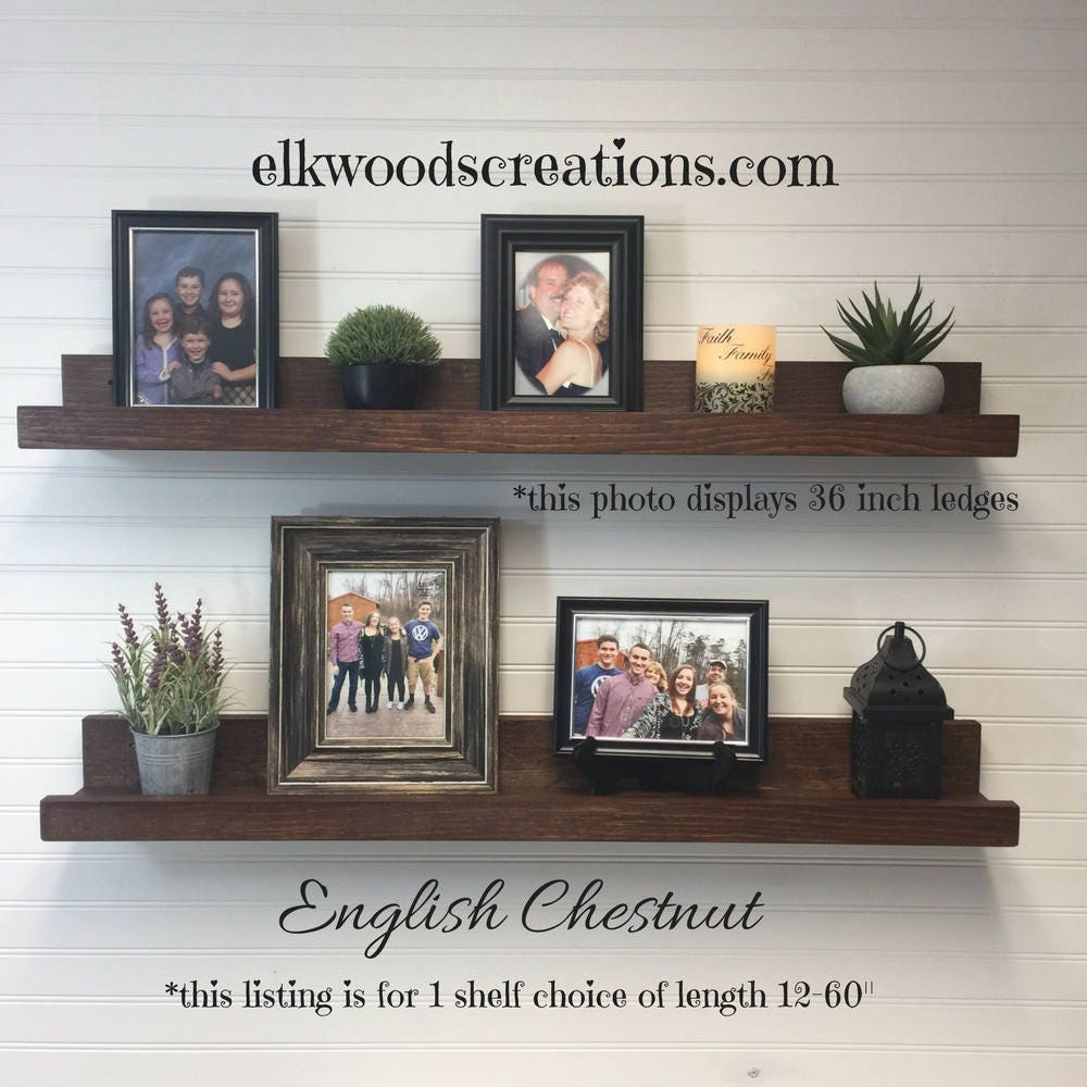 Picture Ledge Floating Shelves 12 60 Inches Long Wall Shelf Wooden Shelves Country Home Decor