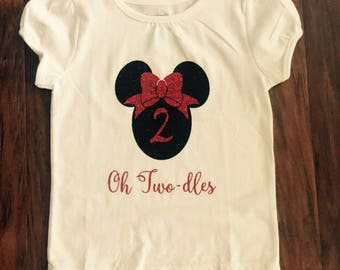Minnie Mouse Birthday shirt (2 year old)
