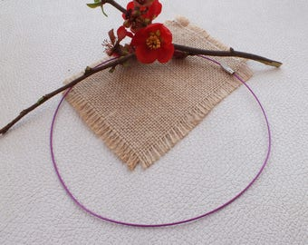 ROUND neck in color purple Metal 45cm steel wire