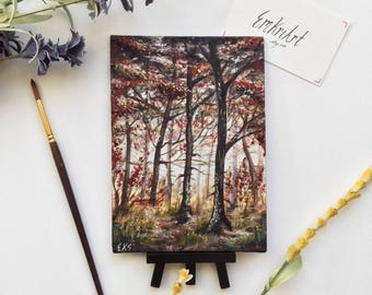 Mini Canvas Painting Spring Woods - Wall Art
