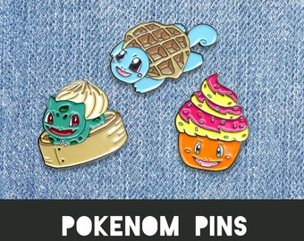 Pokemon Enamel Lapel Pin - SQUIRTLE Bulbasaur Charmanderbadge pins brooch boyfriend denim gift Japan japanese go fanart cosplay costume