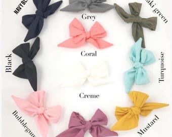 Mini sailor bows, little bows, headband or clip