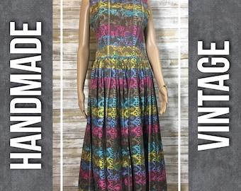 Reserved: Vintage Handmade Paisley Floral Dress