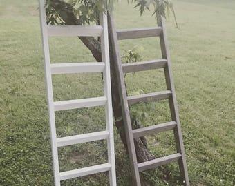 6 ft Blanket Ladder Rustic blanket ladder