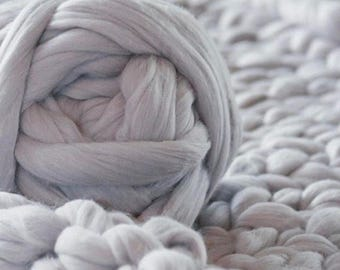 Super Chunky Wool Yarn, Super Bulky Yarn, Arm Knit Wool Yarn,Merino Wool Yarn