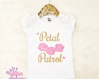 Petal Patrol, Flower Girl Shirt, Girl Wedding Shirt, Flower Girl Rehearsal Shirt, Rehearsal Tee, Flower Girl Outfit, Toddler Shirt
