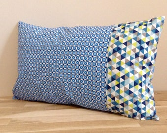 Pillow cover 30 x 50 cotton, shades of blue