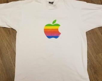 LARGE vintage apple shirt tee, apple computers Steve Jobs