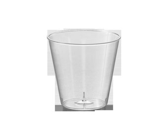 Kaya Collection - Shot Glasses Clear Plastic Disposable 1oz or 2oz Cups