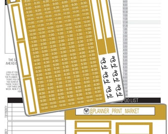 Passion Planner Time Weekly Kit - Touch of Color Kit - Gold