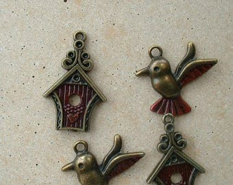 customized charms (enamel paint) - Red