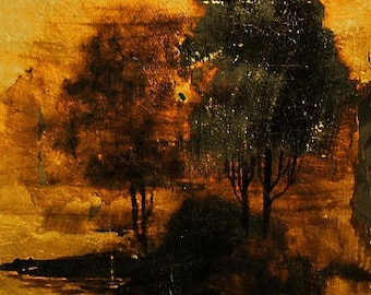 landscape painting, forest painting