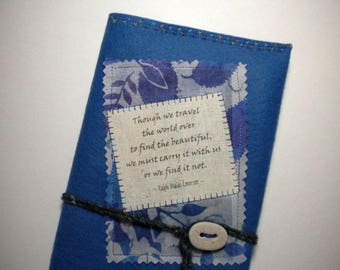 """WRITE YOUR STORY ~ Handcrafted Wool Felt Journal / Sketchbook, 5"""" x 8"""", refillable, reusable -  Pay it forward"""
