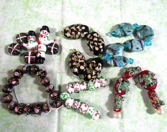 1 Handmade Lampwork Glass Bead Set (B416f)