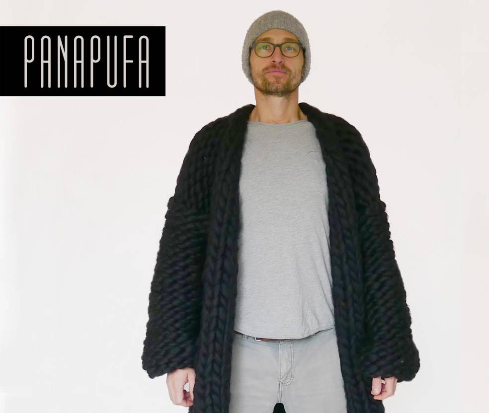 chunky yarn cardiganwool knit coatmens knit cardigan mens
