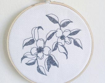 Apple Blossom Floral Hand Embroidery | Miniature Wall Hanging | Home Decor