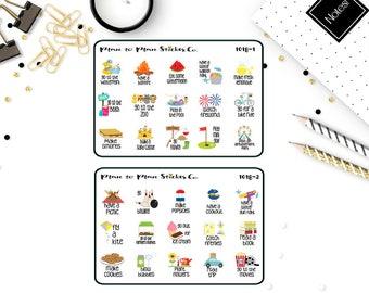 1018~~Summer Bucket List Planner Stickers.