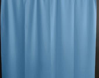 light blue curtains etsy. Black Bedroom Furniture Sets. Home Design Ideas