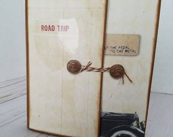 Handmade Mini Scrapbook Album - Road Trip