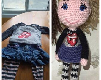 amigurumi doll that looks like you