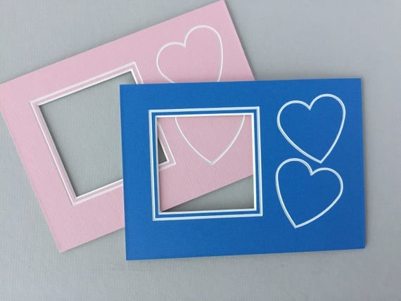 Package of 10 - 5 x 7 Baby with Hearts Photo Mat