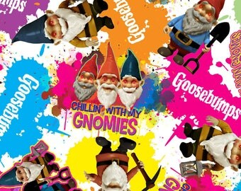 "Goosebumps gnomes by Springs Creative, 43-44"" wide, 100% cotton"