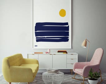 Sun over Waves - 50x70cm