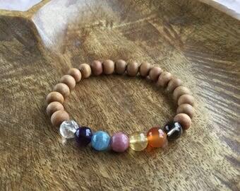 Chakra Love | Sacred Single Bracelet | Wrist Mala | Mala Bracelet | Chakra Bracelet