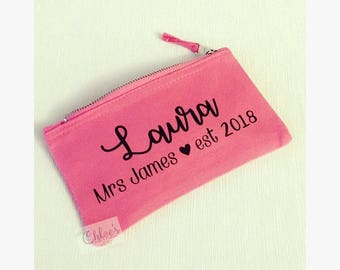 Personalised makeup bag, Bridesmaid gift, Multipurpose bag, Maid of honour gift, Bridesmaid gift, Makeup bag, Personalised bag, Personalized