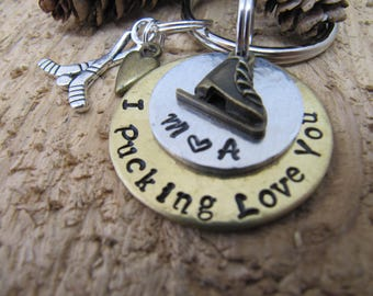 Hockey key chain, You are my best score, boyfriend gift,Hockey charms,Anniversary gift,gift for hockey player,I love you gift. Valentines