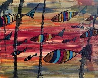 Naïve painting / abstract