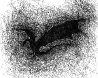 Smaug Scribble [PRINT]