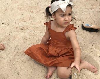 Boho fawn neutral headwrap topknot baby headband, baby topknot, knotted headband, baby headband, baby headband,