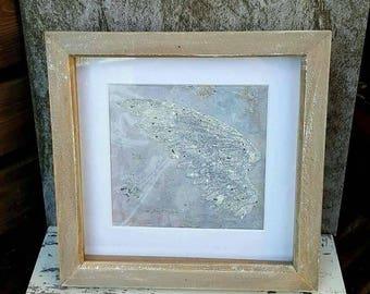 Mixed media Encrusted Sparkly Angel Wing Memorial Keepsake Remembrance framed Artwork piece