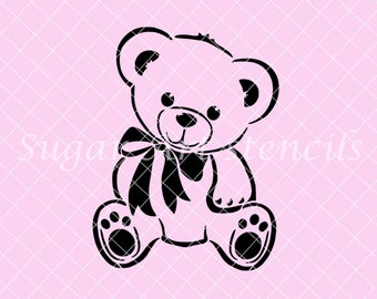 Teddy Bear Wall Stencils For Painting Bears In Baby Room Walls