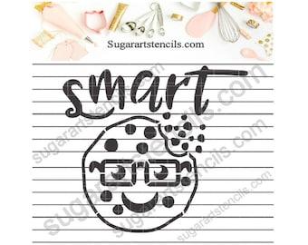 School cookie stencil smart cookie NB900764