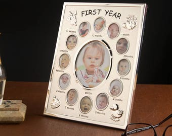 A Baby First Year Chronological Photo Frame