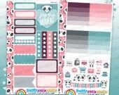 Functional Personal Size Weekly Kit 0211 Planner Stickers/Panda/Kawaii/Cute Sticker/Filofax/KikkiK/Rings/ UK
