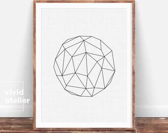 Modern Minimalist, Geometric Wall Art, Circle Print, Abstract Art, Minimalist Poster, Geometric, Modern Decor, Scandinavian Printable Art