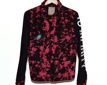 To Infinity Acid Wash Denim Jacket with Fleece Lining
