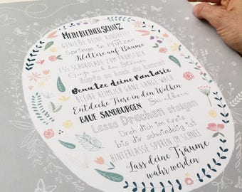 """Art print/poster """"Fairy Garden"""""""