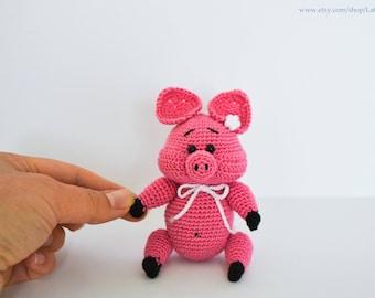 Piggy amigurumi toy Amigurumi doll  Crochet pattern Pig Piglet Zoogurumi by LaCigogne