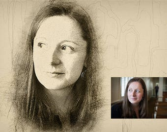 Custom Portrait Pencil Sketch from Photo