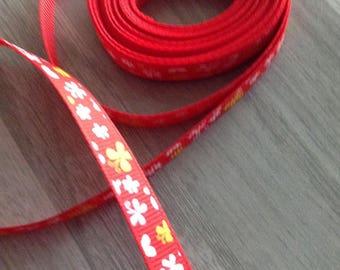 Ribbon GROSGRAIN sold by the yard, 10mm butterflies design